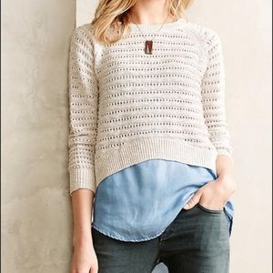 Anthropologie | Moth Button Down Knitted Sweater